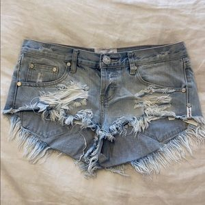 One Teaspoon Low Rise Shorts